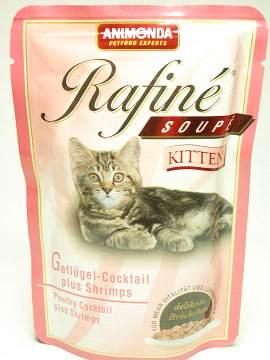 ラフィーネスープ仔猫鳥肉カクテルとえび
